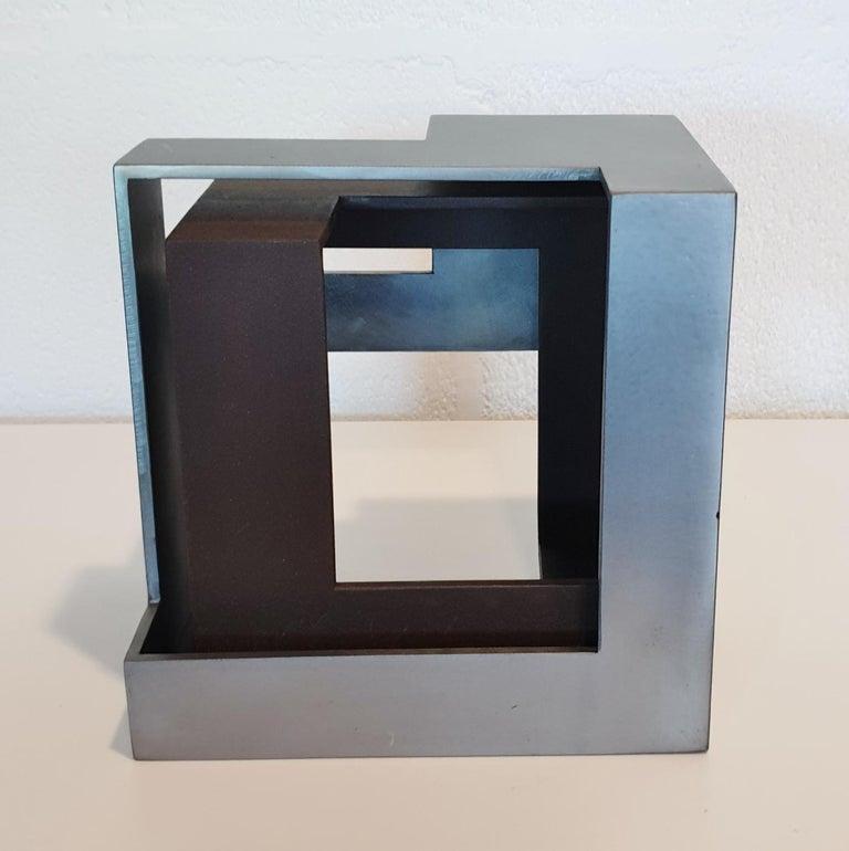 Eduardo Lacoma Abstract Sculpture - Pareja 03 - contemporary modern abstract geometric steel sculpture