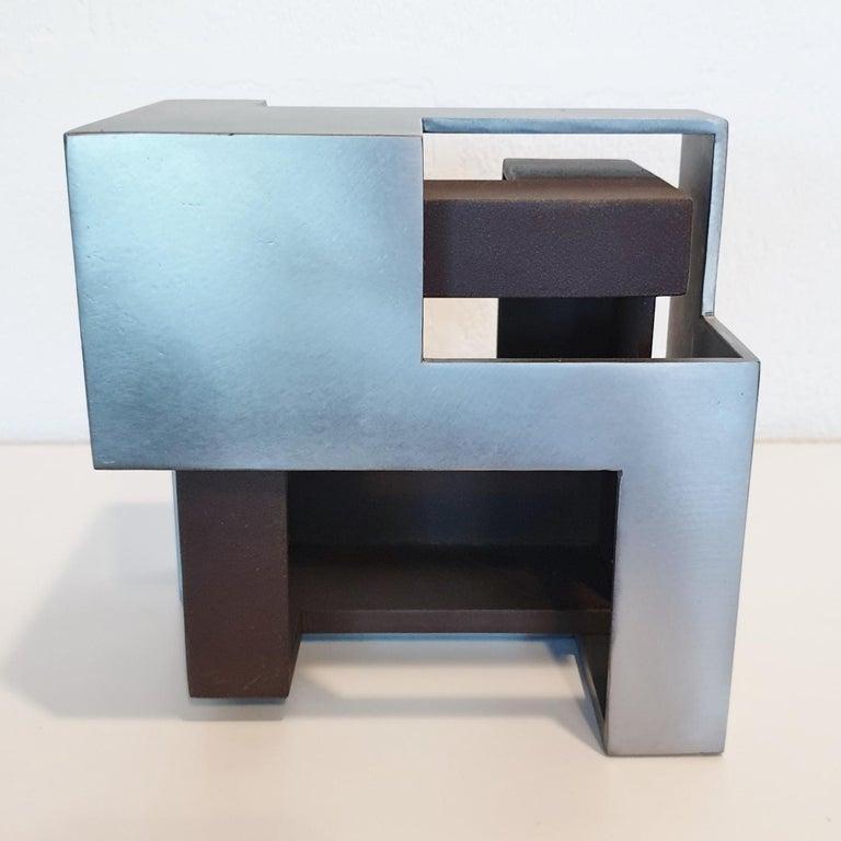 Pareja 03 - contemporary modern abstract geometric steel sculpture 1