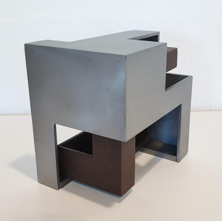 Pareja 03 - contemporary modern abstract geometric steel sculpture 2