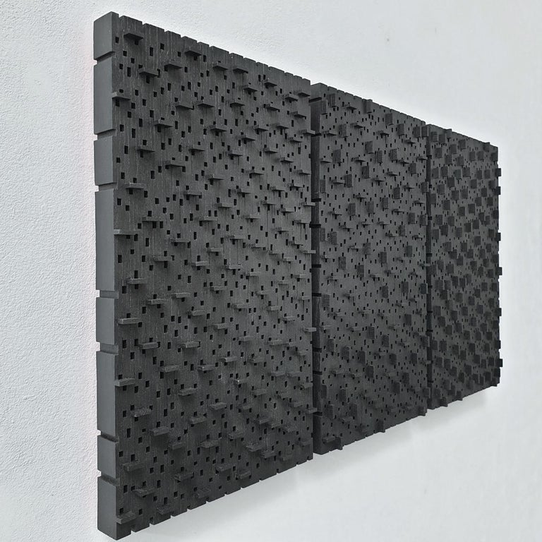 Architecture musicale - contemporary modern geometric sculpture painting relief For Sale 1