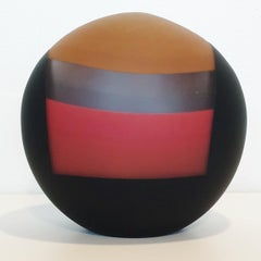 Integrated Thirds - contemporary modern abstract glass sculpture