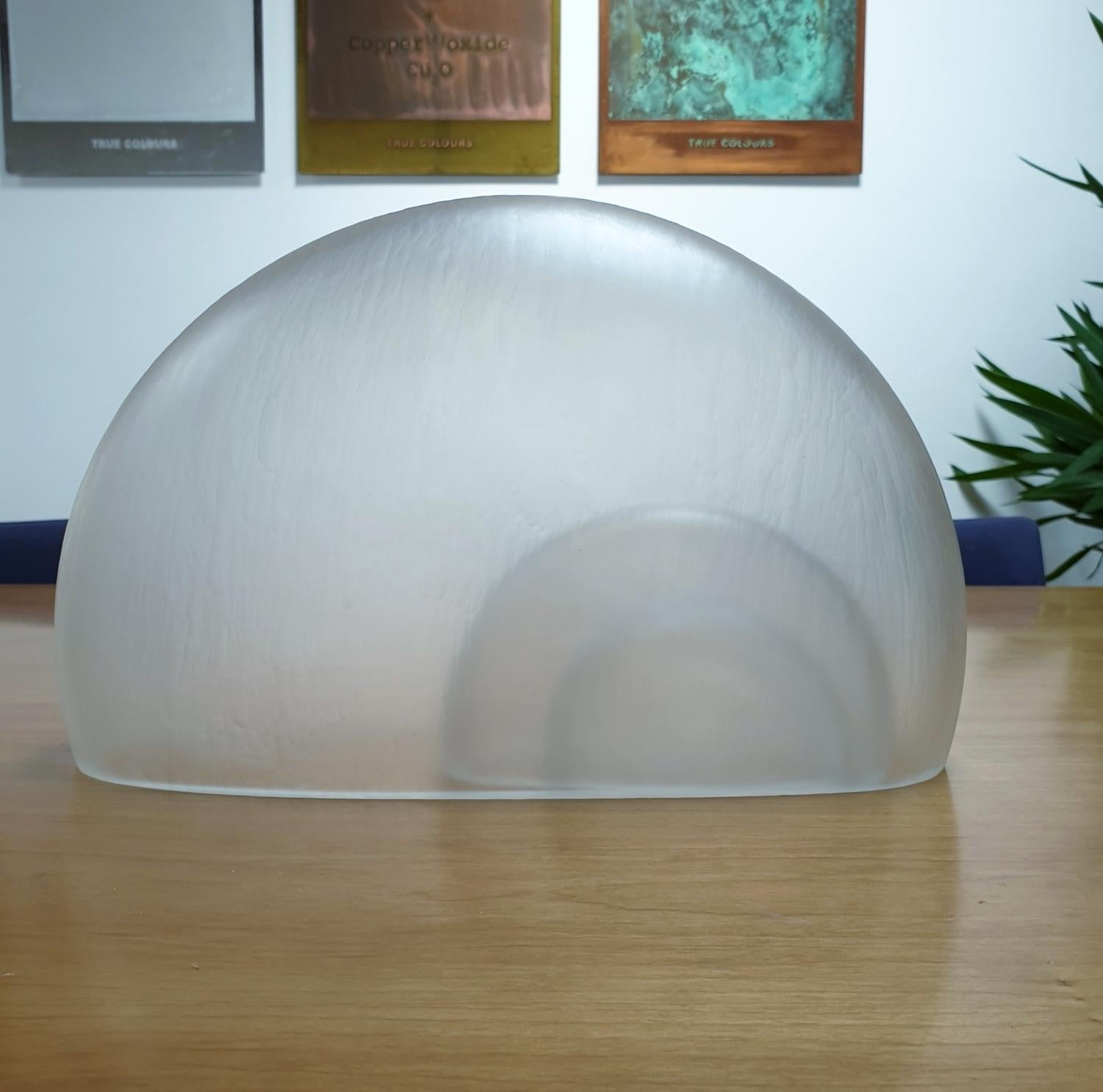 Memento Clear Cell - contemporary modern abstract glass sculpture