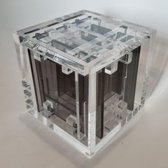 Homage to Bach - contemporary modern abstract geometric cube sculpture
