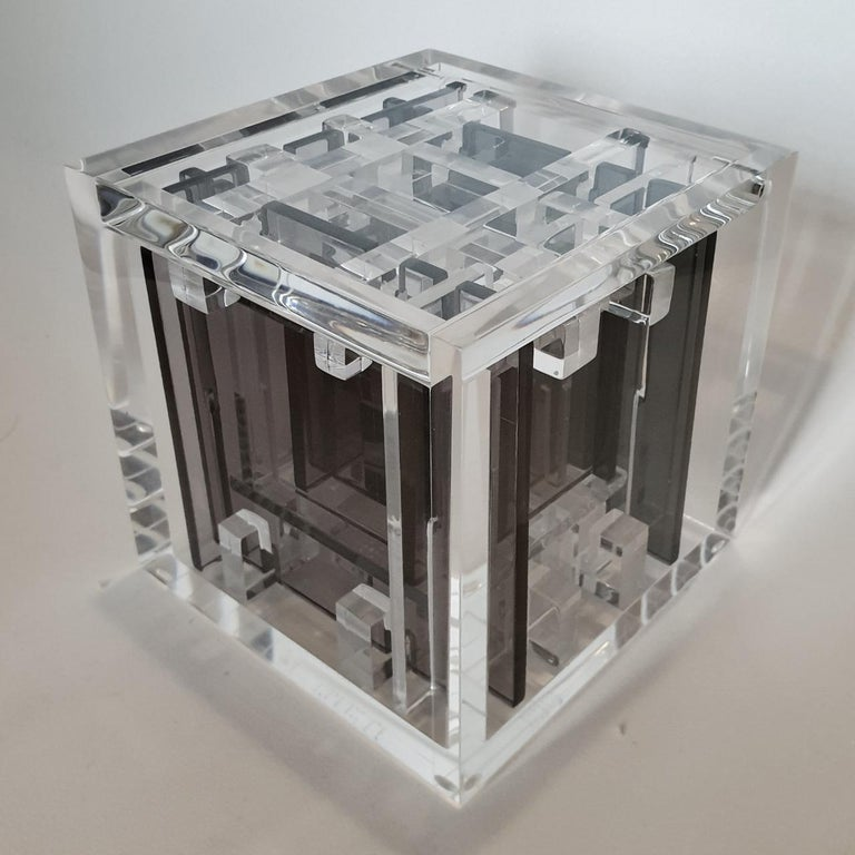 Haringa + Olijve Abstract Sculpture - Homage to Bach - contemporary modern abstract geometric cube sculpture