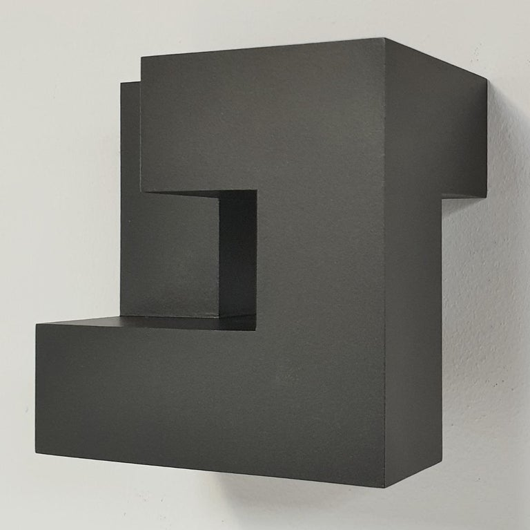 Olivier Julia Abstract Sculpture - Carré architectural III no. 4/15 - contemporary modern abstract wall sculpture