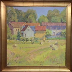 Secluded Village, original French impressionist landscape