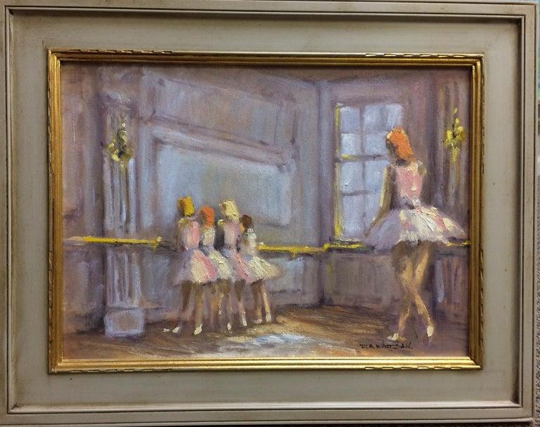 Robert Waltsak Figurative Painting - The  Dancers, original French impressionist figurative landscape