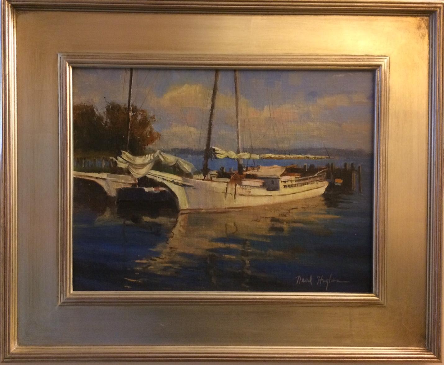 Skipjack Morning, original impressionist marine landscape