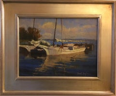 Skipjack Morning, original realistic seascape