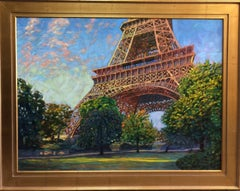 Eiffel Sun, Paris, original expressionistic landscape