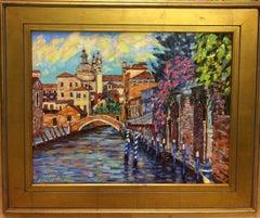 Evening Maria, Venice, original expressionistic landscape