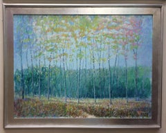 Forest Fantasy, original 30x40 contemporary landscape