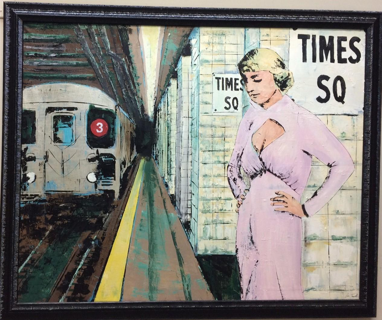 Times Square, NYC, original 34x42 contemporary pop art figurative landscape