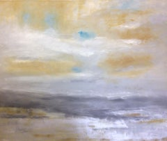 Silver Lining, original 40x48 abstract contemporary landscape