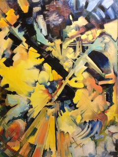 Big Yellow, original abstract oil painting