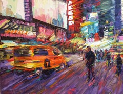 Urban Rhythms, original contemporary impressionist  NYC landscape