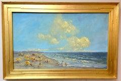 Sun Drenched, original 24x40 impressionist marine landscape