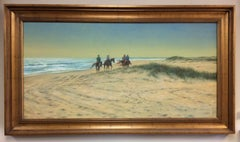 Beach Riders, original 24x48 realistic landscape