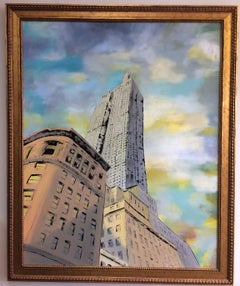 Empire State, original 46x37 pop art landscape of NYC