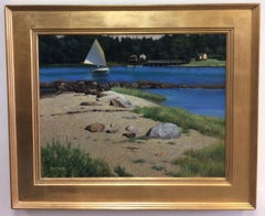 Breezy Afternoon, original 22x26 impressionist marine landscape