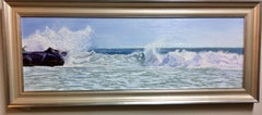 Untamed, original 12x36 seascape