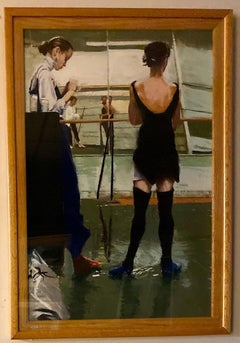 Black Stockings, original 36x24 pastel figurative French Impressionist landscape