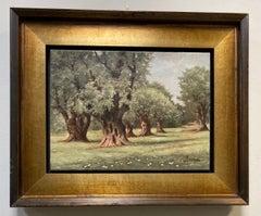 Les Oliviers de Auguste Renoir, original French impressionist landscape