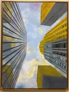 Midtown Sunset, original 40x30 popart New York City landscape