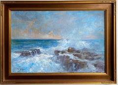 Crashing Waves, original 24x36 marine landscape