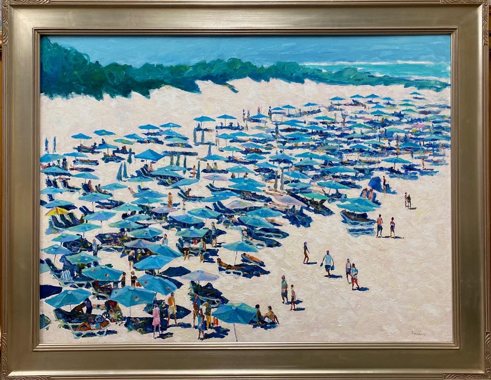 Horseshoe Bay, Bermuda, original 30x40 expressionist marine landscape
