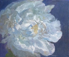 Peony, original 32x38 contemporary still life