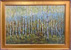 Aspens, original 24x36 contemporary landscape