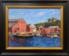 Annie at Mystic, original impressionist marine landscape