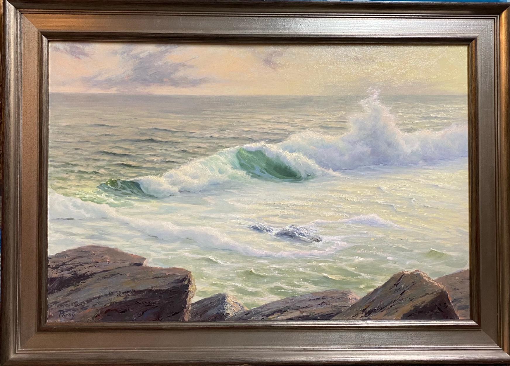 Golden Surf, original 20x30 marine landscape