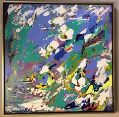 Wild Things, original 36x36 abstract expressionist acrylic painting