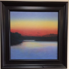 Sunset on the Lake, original contemporary seascape