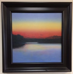 Sunset on the Lake, original contemporary landscape
