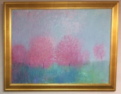 Springtime Abstraction, original contemporary abstract landscape