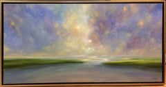 Quiet Tide, original 24x48 contemporary landscape