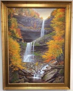 Kaaterskill Falls, original realistic landscape