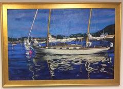 A Cherubini Yacht,  original 36x48 expressionist seascape