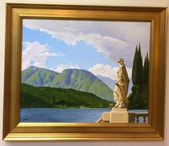 Admiring the View, Lake Como, Italy,  original photorealistic landscape