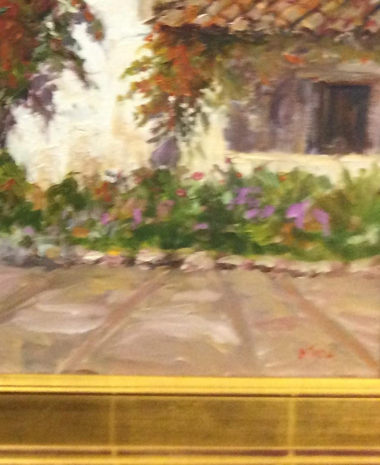 Venturing down California's famed Highway 1 with it's spectacular views, Carmel appears.  Home of long time Mayor Clint Eastwood, Carmel is also home to the vintage and timeless Mission at Carmel.  This original landscape with it's classic impasto