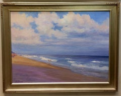 A Walk on the Beach, original 30x40 contemporary landscape