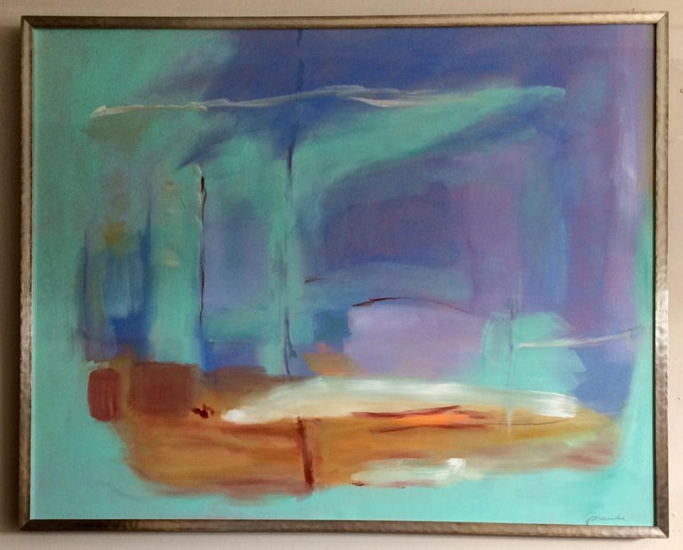 Donna M. Grande Abstract Painting - Morning Flight, original abstract oil painting