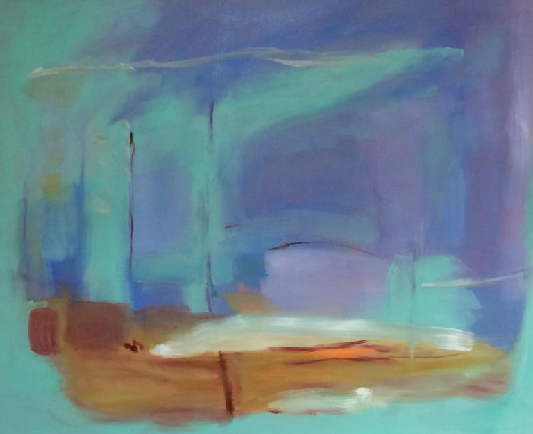 Morning Flight, original abstract oil painting - Painting by Donna M. Grande