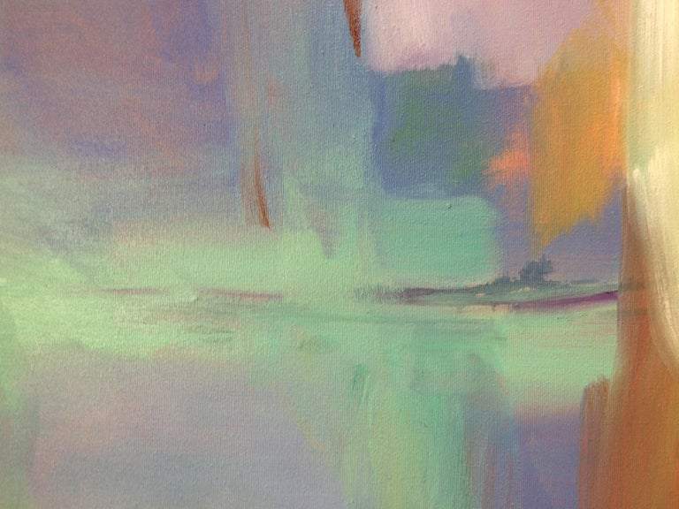 Morning Flight, original abstract oil painting - Abstract Painting by Donna M. Grande
