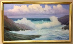 Late Morning at the Atlantic, original 24x42 impressionist landscape