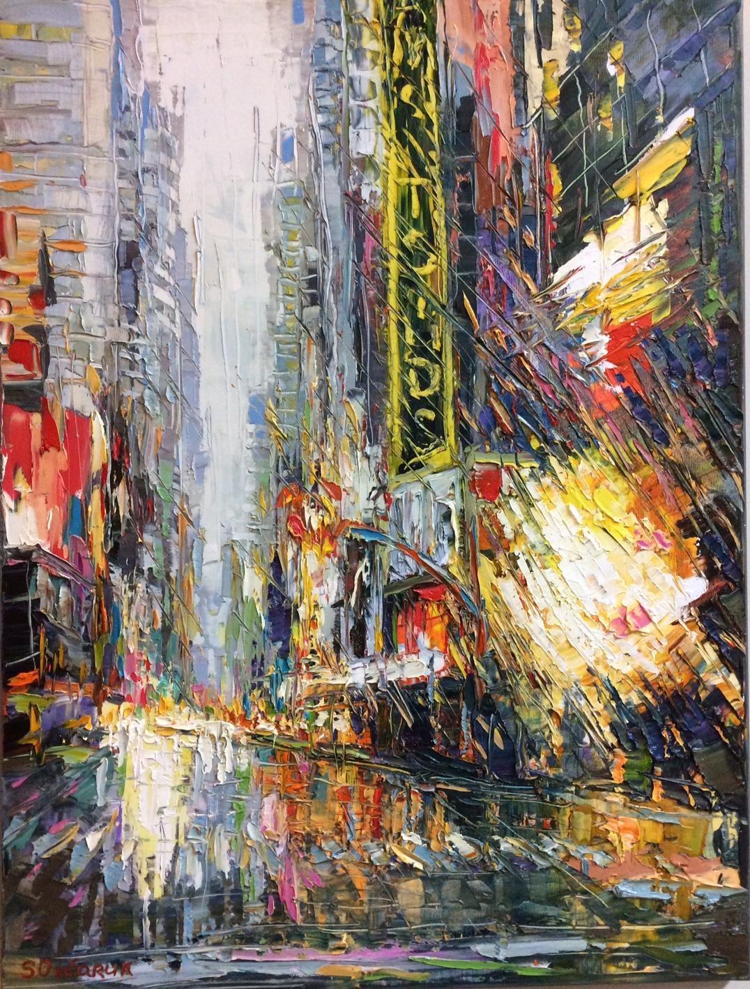 Music of the Rain, original 31x24 abstract impressionist landscape