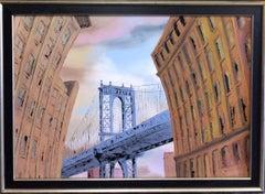 DUMBO, original 30x40 pop art New York City landscape